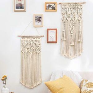 2 piece Boho Macrame Woven Wall Decor